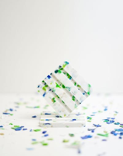 Porte savon en plastique recyclé Canopée
