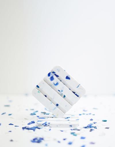 Porte savon en plastique recyclé Glacier