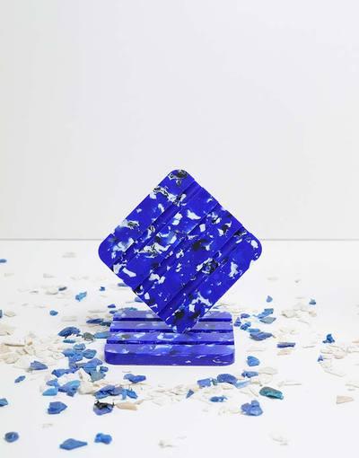 Porte savon en plastique recyclé Océan