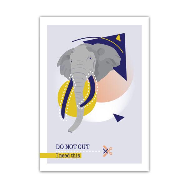 Affiche A4 Do Not Cut Éléphant