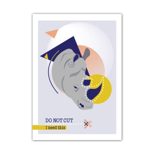 Affiche A4 Do Not Cut Rhinocéros