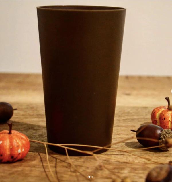 Gobelet réutilisable en lin