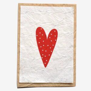 Carte Coeur Growing paper
