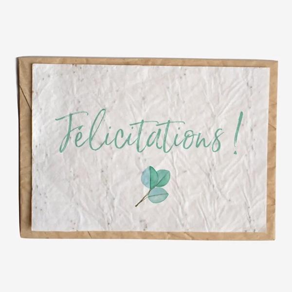Carte à planter Félicitations