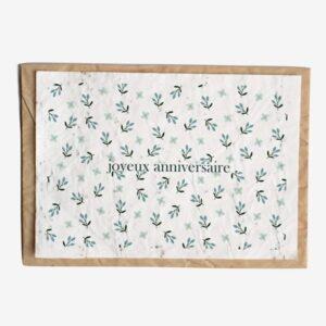 Carte d'anniversaire Fleuri