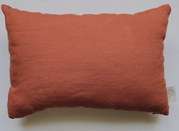 Coussin en lin lavé Garance - terracotta