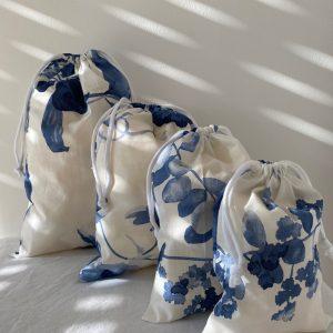 Sacs à vrac fleurs bleues