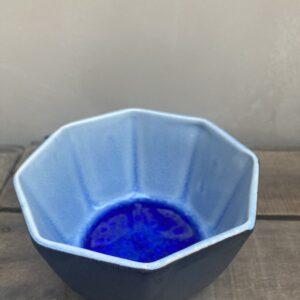 Coupelle intérieur émaillé bleu