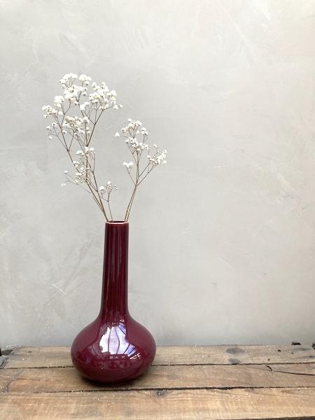 Vase col long bordeaux