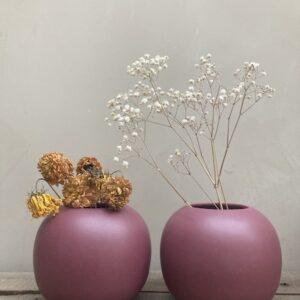 Vase rond bordeaux