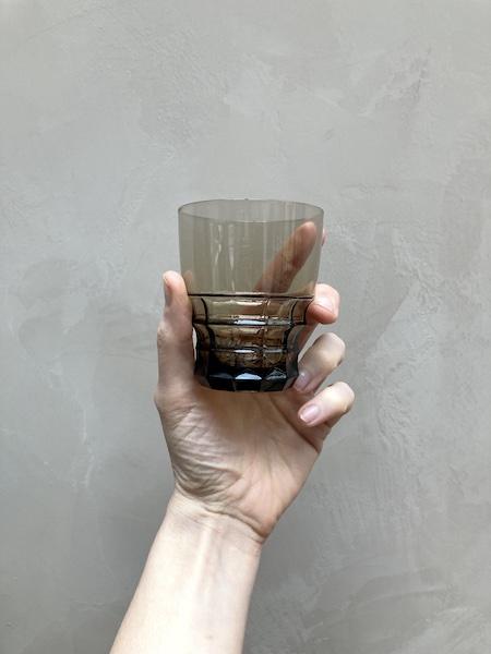 Lot de 6 verres fumés en cristal d'Arques