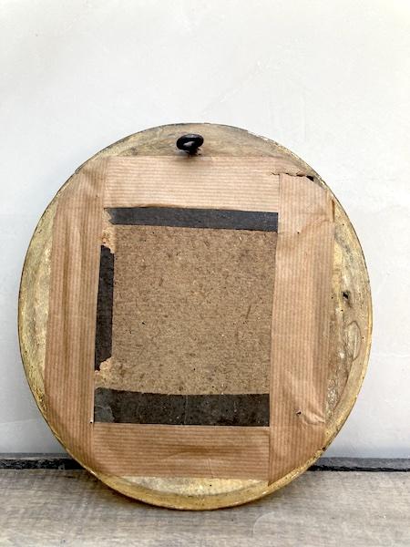 Ancien cadreoval en bois doré avec son portrait