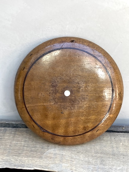 Petit miroir rond en bois