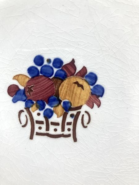 Plat en faïence à décor de fruits Villeroy et Boch