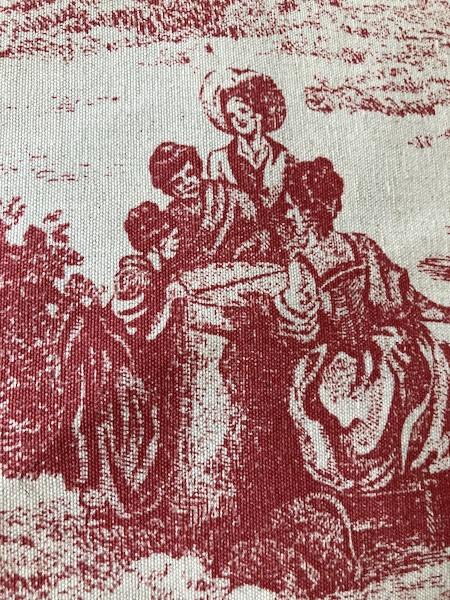 Coussin motif toile de Jouy