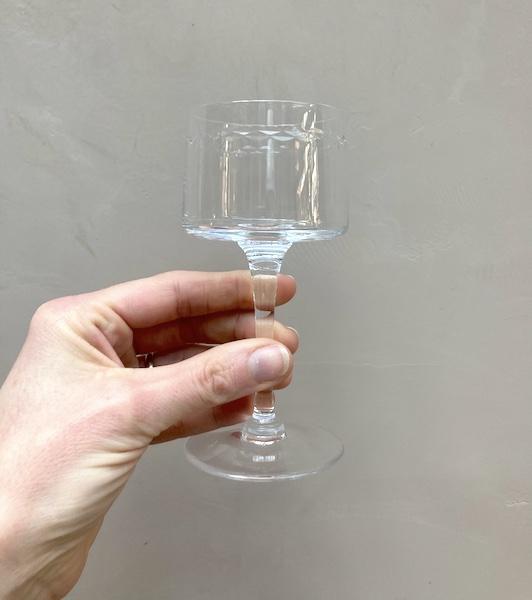 Lot de 12 verres à pied en cristal