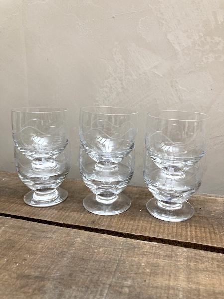 Lot de 6 verres en cristal 5,5 cm