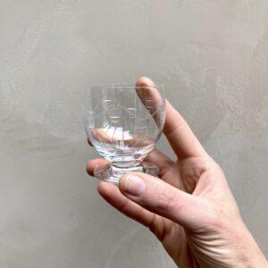 Lot de 8 verres en cristal 6,5 cm