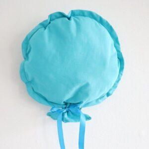 Ballon décoratif en tissu bleu