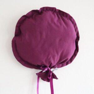 Ballon décoratif en tissu mauve