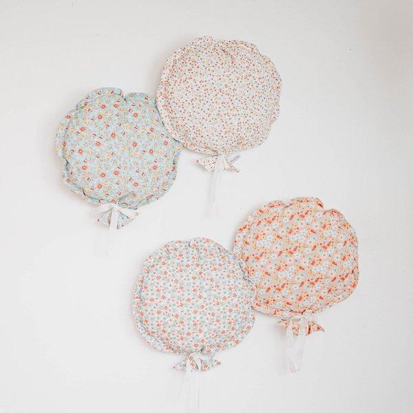 Ballons en tissu fleuri