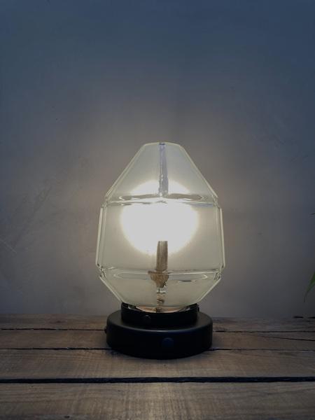 Lampe à poser Agathe, avec globe Skyscraper