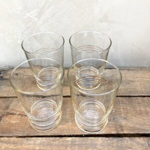 Lot de 4 verres anciens liseré or
