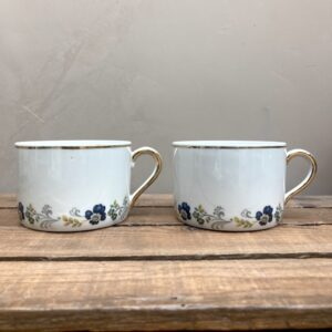Ensemble de deux jolies tasses Sofafils Limoges.
