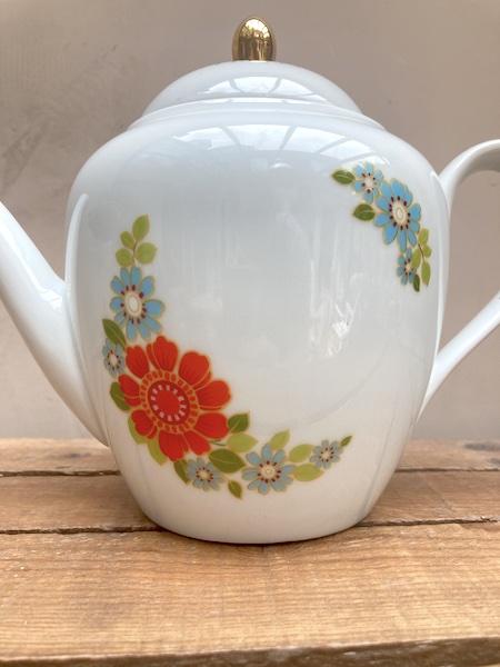 Théière en porcelaine allemande Hartporzellan